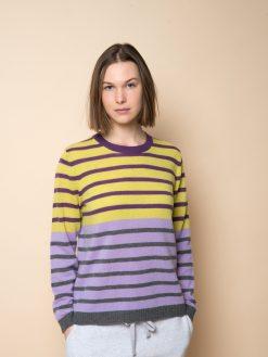 Pullover kaschmir multicolor lime